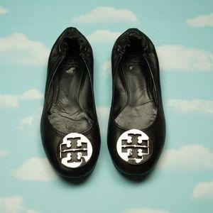 Tory Burch black Reva Flats